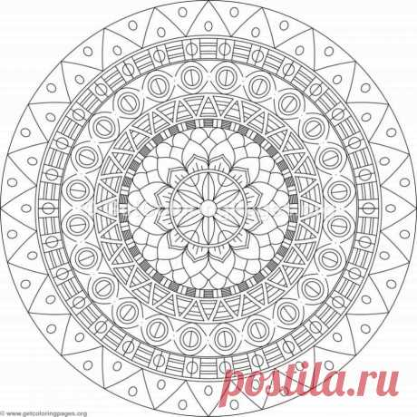 Tribal Mandala Coloring Pages #428 – GetColoringPages.org