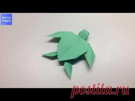 Как сделать черепаху из бумаги. Оригами черепаха (Origami turtle tutorial)
