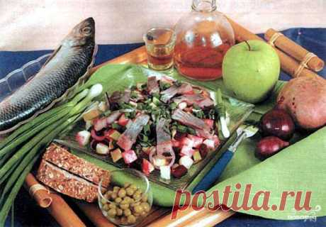 Herring in Norwegian - the step-by-step recipe from a photo on Повар.ру