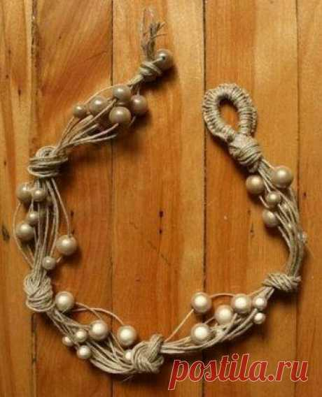 Потрясающие украшения из шнура — Сделай сам, идеи для творчества - DIY Ideas