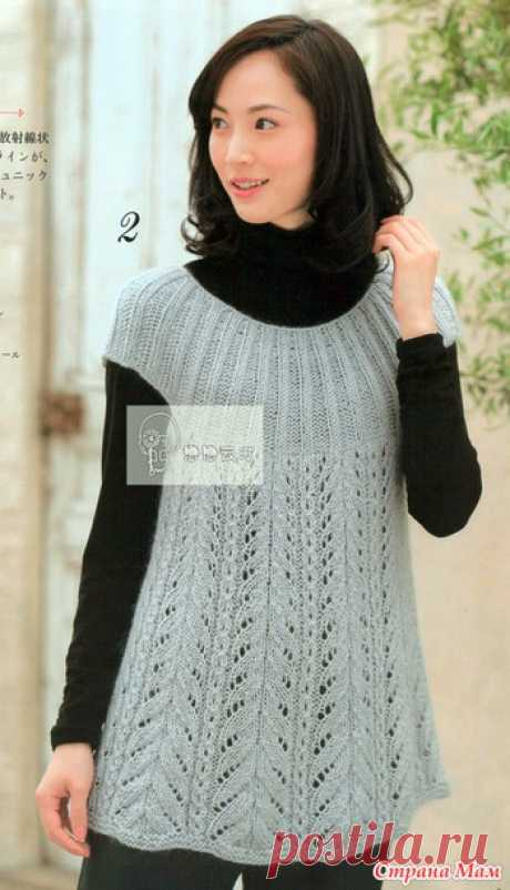 Warm tunic spokes. - KNITTED FASHION + FOR NOT MODEL LADIES - the Country of Mothers