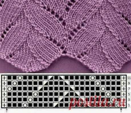 Узор в копилочку  #узор_спицами@knit_best, #узоры@knit_best  Источник: https://gidrukodeliya.ru/azhurnoe-vyazanie-spicami