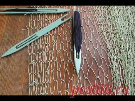 ™ Правильный набор ячей рыболовного сетеполотна, набрать ячеи куклы.