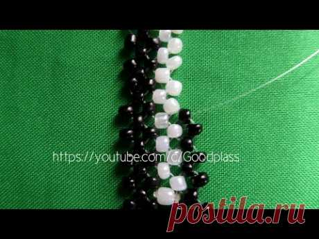Beadwork. Lessons for beginners. Lesson 1 Monastic weaving.