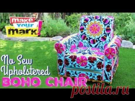 Редизайн кресла в стиле бохо-шик без шитья | HANDMADE-МУЗЕЙ • Ручная работа, мастер-классы, идеи