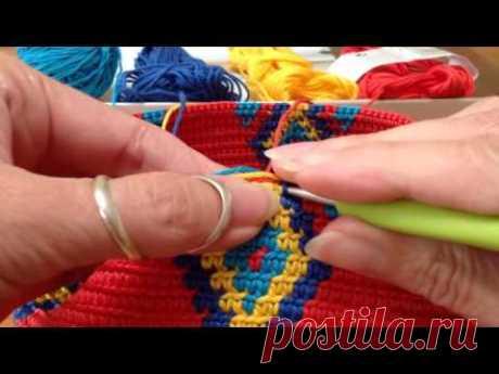 Mochila, how to prevent the yarns from tangling\/hoe hou je de draden uit de knoop