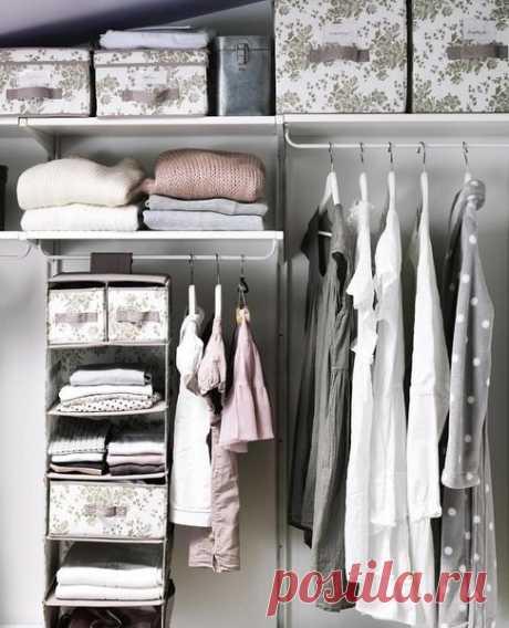 Как навести порядок в шкафу: 10 умных советов | ИДЕИ ВАШЕГО ДОМА | Яндекс Дзен