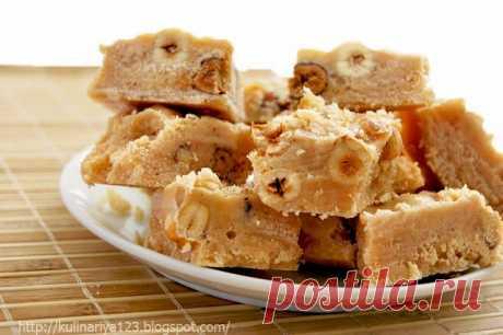 413. Ванильная сливочная помадка с орехами
