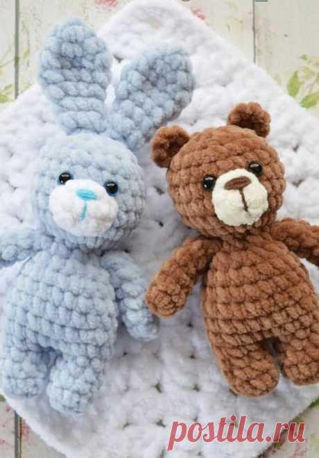 PDF Мини мишка и зайка крючком. FREE crochet pattern; Аmigurumi doll patterns. Амигуруми схемы и описания на русском. Вязаные игрушки и поделки своими руками #amimore - Медведь, медвежонок, мишка, teddy bear, oso, suportar, ours, bär, ayı, niedźwiedź, medvěd, bära, заяц, зайчик, rabbit hare, bunny liebre, conejito, coelhinho lebre, lièvre, lapin hase, zając. Amigurumi doll pattern free; amigurumi patterns; amigurumi crochet; amigurumi crochet patterns; amigurumi patterns free; amigurumi today.