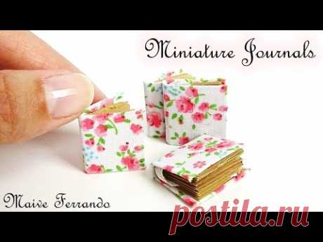 Miniature Romantic Journals/Notepads Tutorial || Maive Ferrando