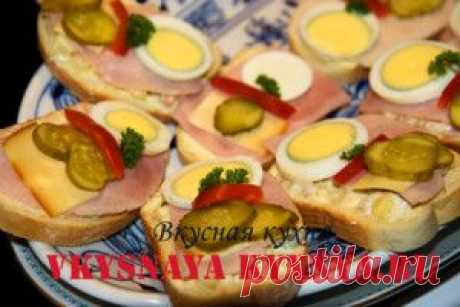 Рецепты простых и вкусных бутербродов.   Вкусная кухня