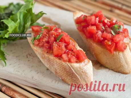 Рецепт Брускетта С Помидорами   от foodclub.ru   Craftlog