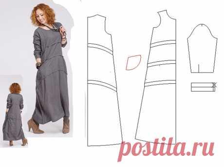 Выкройка платья бохо с рукавами | KompKroy.ru