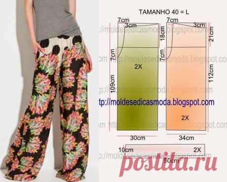 Los patrones simples: los pantalones libres (6 modelos)