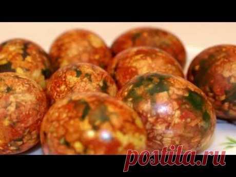 Мраморные яйца на Пасху, пошаговый рецепт | Рецепты с фото