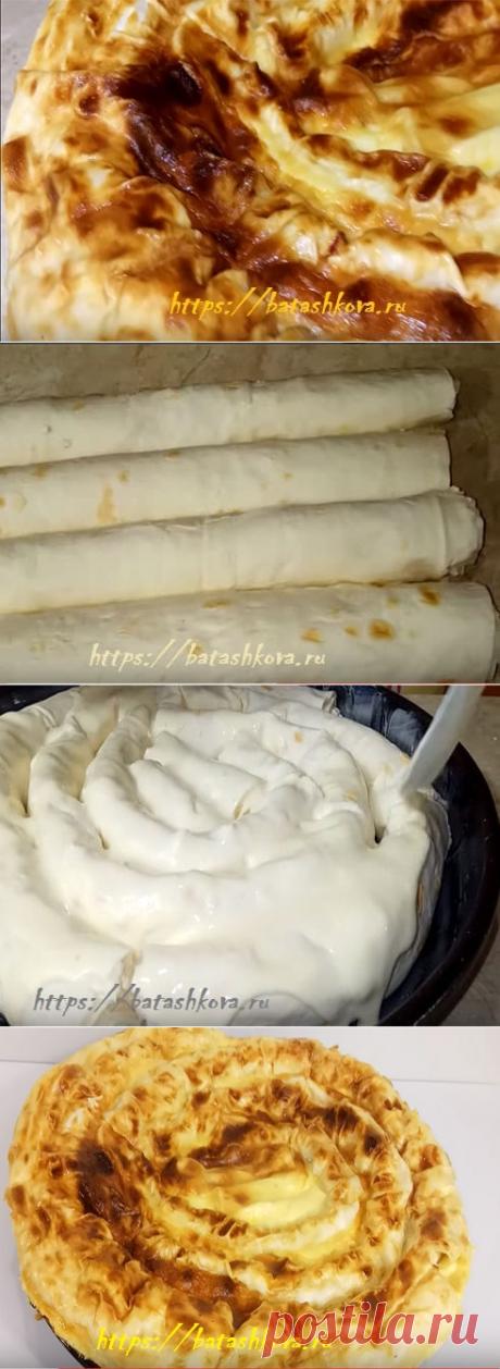 Пирог из лаваша с творогом в духовке рецепт с фото.