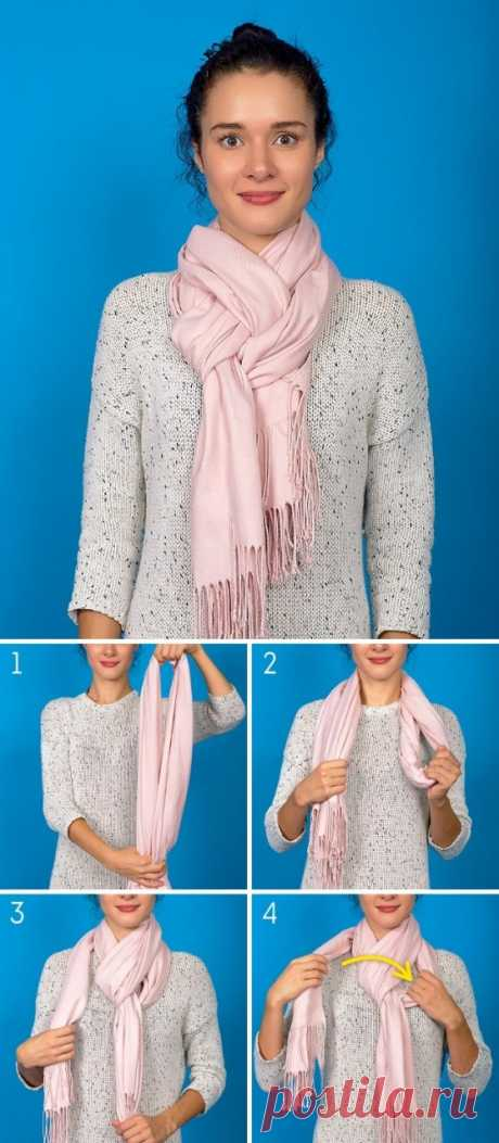 Осенний образ с помощью шарфа — Женский Гид