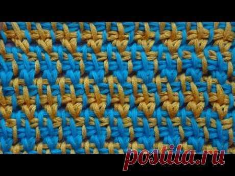 Tunisisan pattern Красивый Жаккард крючком  Узор вязания 27