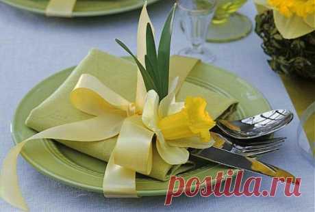 Праздничная сервировка на 8 марта: ТОП-10 креативных идей - Сервировка стола - праздничная сервировка салфеток - украшение стола - сервировка блюд - IVONA - bigmir)net - IVONA - bigmir)net