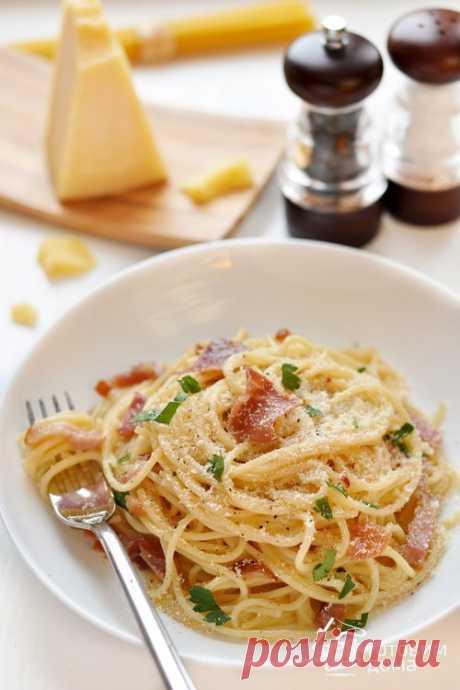 Паста Карбонара со сливками и беконом - пошаговый рецепт с фото на Готовим дома