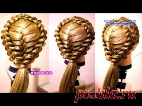 Причёска из трёх кос  Французская обратная коса  CLASSIC FRENCH BRAID for Вeginners