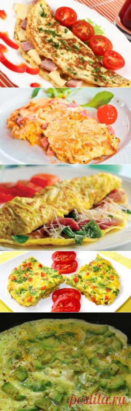 5 омлетов с ветчиной на завтрак
