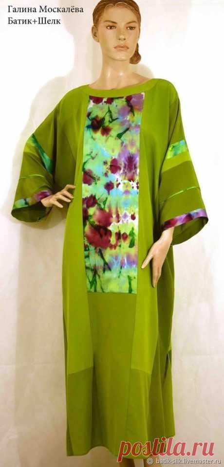 Платья: Шелковое Платье Магнолия лоскутное платье шелк100% – купить на Ярмарке Мастеров – JD0B0RU | Платья, Курск