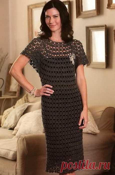Ажурное платье крючком из Patons!