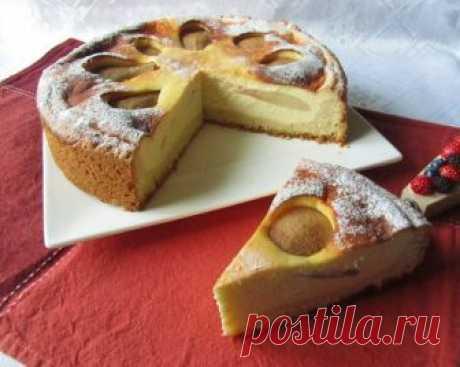 *Творожный пирог с грушами в мультиварке*
