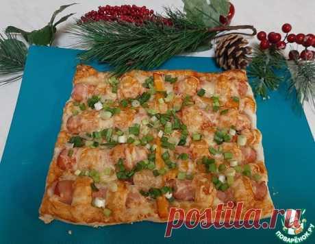 Слоеный пирог с сосисками – кулинарный рецепт