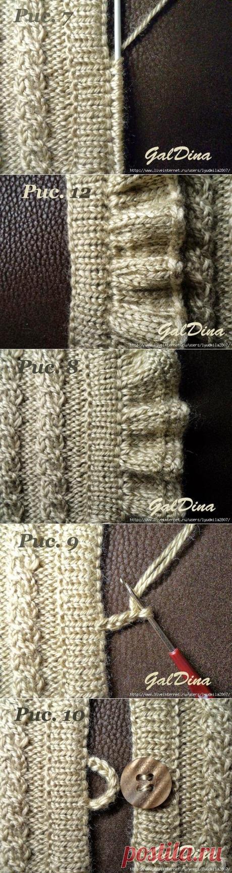Уроки вязания: Обработка планок. Мастер-Класс от Любови Галдиной