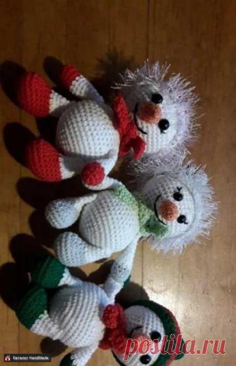 Новогодний снеговик, отличный подарок ручной работы купить в Минске и Беларуси, цены на HandMade