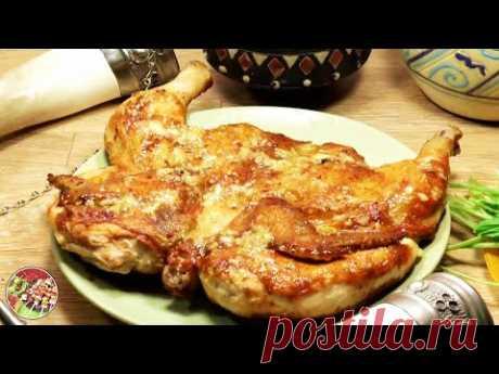 Цыплёнок табака (წიწილა ტაბაკა - цицила тапака), суперхит грузинской кухни. Просто, очень вкусно! Цыплёнок табака (წიწილა ტაბაკა - цицила тапака). Культовое блюдо кафе и ресторанов Союза. Понадобятся: цыплята по 800 - 900 гр., масло растительное и топлёно...