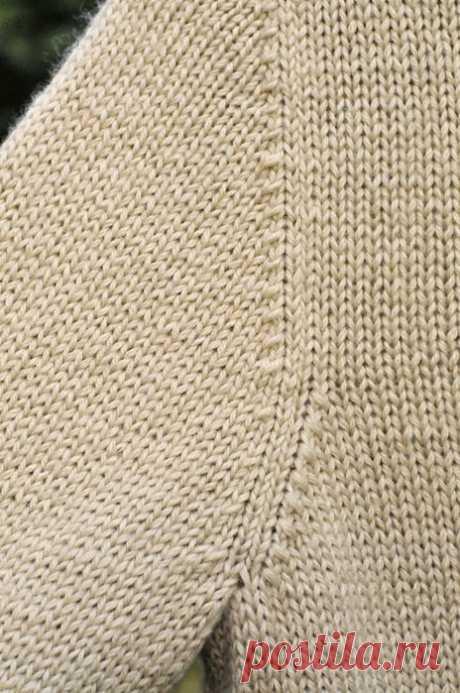 Вязание на спицах - Секреты мастерства спицами - Расчет оката и проймы рукава вязаного изделия. Чуть-чуть про кромочные петли и матрасный шов
