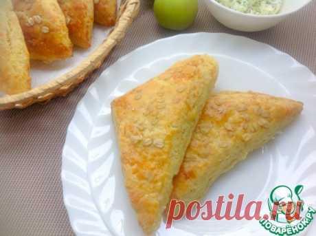 Сконы с сыром и луковым маслом - кулинарный рецепт