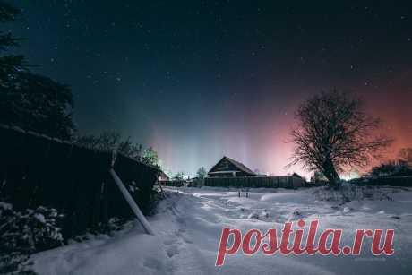 Посёлок Пено, Тверская область. Автор фото: Татьяна Афиногенова. Доброй ночи.