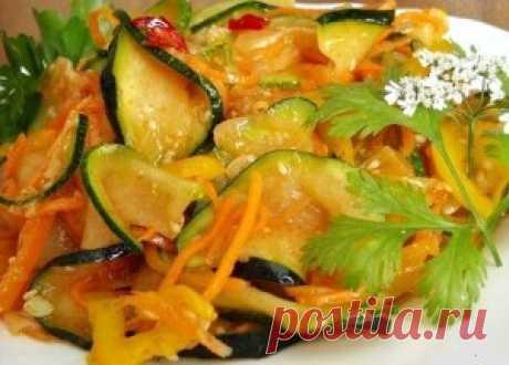 Вкусные кабачки по-корейски