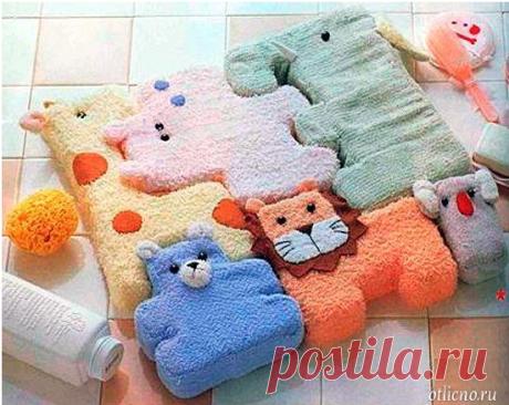 Детский коврик-пазл из игрушек | otlicno.ru