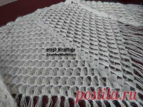 ÜÇ BOYUTLU KOLAY ŞAL MODELİ YAPILIŞI/Three-dimensional easy shawl model construction