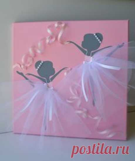 Dancing Ballerinas in Pink and White. Nursery wall by…