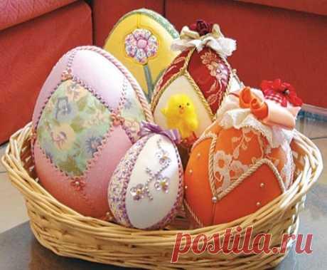 Безыгольный пэчворк яиц - Домашний hand-made