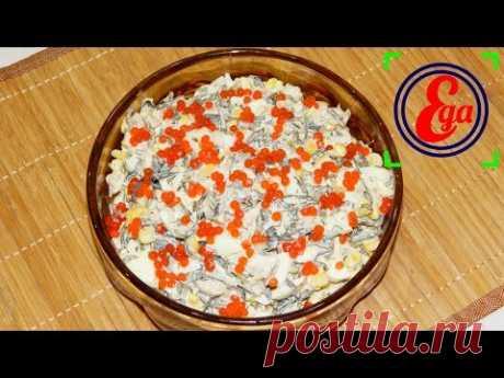 Вкусный и полезный салатик с морской капустой