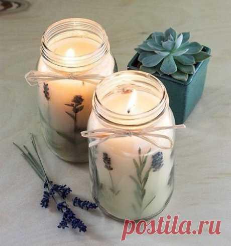 Ароматные свечи своими руками