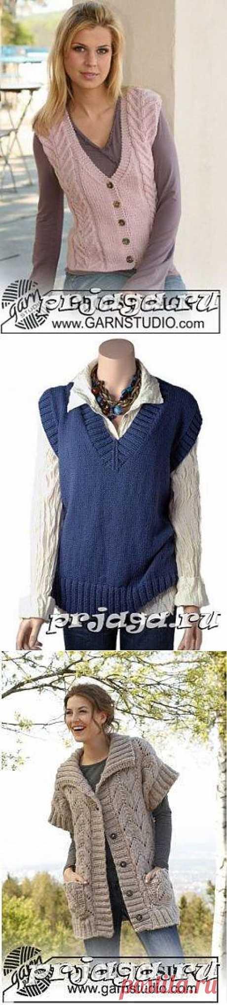 Women's sleeveless jacket and vest hook or spokes