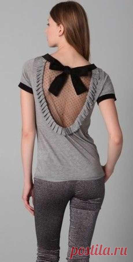 Почти открытая спина Модная одежда и дизайн интерьера своими руками