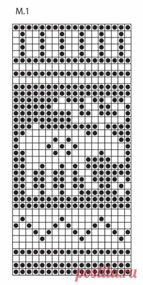 Схема рисунка к повязка на голову