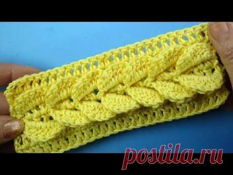 СУМАСШЕДШАЯ КОСА КРЮЧКОМ узор для шапки SPIT Crochet pattern for hats 101 Лучшие узоры для шапки https://www.youtube.com/watch?v=vTpoGzMwkeU&list=PLvDs5cgSta...