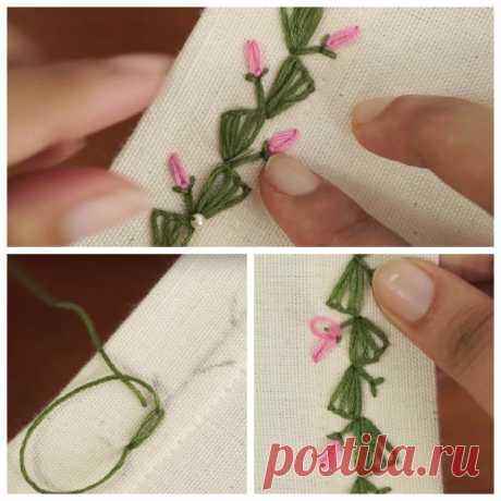 Невероятно красивая и простая вышивка для украшения одежды - Домоводство - медиаплатформа МирТесен