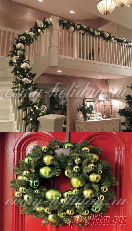 Как украсить квартиру к Новому году 2017 своими руками, фото