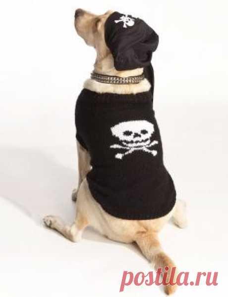 Пиратское пальто Игривое пальто с принтом для настоящего разбойника. Такая вещь не останется незамеченной! Рекомендуется использовать акриловую пряжу. Описание дано...